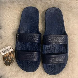 NWT Pali Hawaii Navy Blue Jandals Jesus Sandals